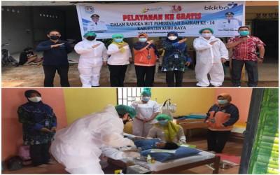 Pelayanan KB Gratis Dalam Rangka HUT Pemerinta Daerah Ke 14 Kabupaten Kubu Raya